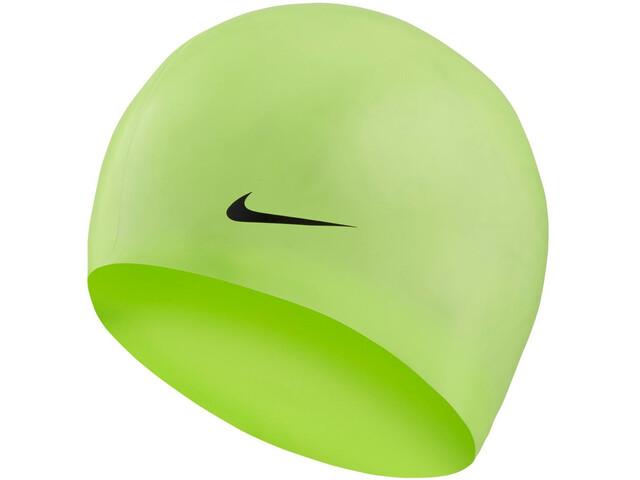 Nike Swim Solid Gorro de silicona, volt glow